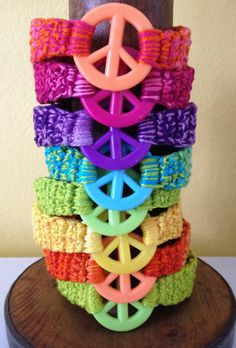 Hey, I found this really awesome Etsy listing at https://www.etsy.com/listing/122730396/crocheted-peace-sign-bracelet-for-pre