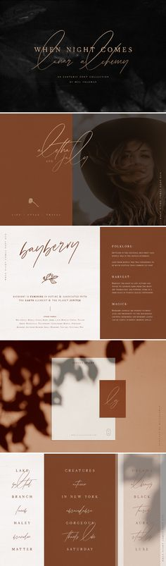 When Night Comes is an esoteric hand lettered font collection featuring an old soul typewriter styled serif font a free spirited signature styled script font over 20 dreamy illustrations 6 logo templatesand an infinite amount of styling opportunities! Design Typography, Typography Fonts, Hand Lettering, Font Art, Lettering Ideas, Typography Inspiration, Design Inspiration, Web Design, Logo Design