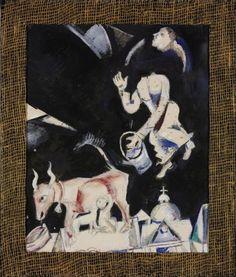 Compositional Study for 'To Russia, to the Asses and Others'  Artist:Marc Chagall (Vitebsk 1887 – 1985 Saint-Paul-de-Vence)  Szépművészeti Múzeum - Gyujtemenyi kereső angol - Artwork