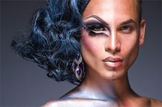 """These images are part of an ongoing series of portraits of Drag Queens in half drag. With this series my intention is to capture both the male and the alter-ego female side of these subjects in one image. Through the power of hair and makeup these men are able to completely transform themselves and find their female side while simultaneously showing their male side. These are composed in camera and are not two separate images joined together."" Leland Bobbé"