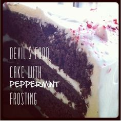 Devil's Food Cake with Peppermint Frosting...and a #giveaway