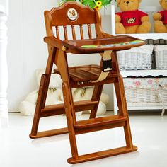 Sillas para comer de bebé 5 Indoor Outdoor Furniture, Outdoor Chairs, Outdoor Decor, Baby Chair, Baby Furniture, Wood Design, Home Office, Wood Projects, Baby Gifts