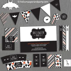 Halloween Printables Halloween Party Modern by heliumpaperandparty