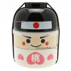 11. Japanese Bento Box 2 tier Lunch Box Kokeshi Set Momotaro.  Awesome lunch box for kids!!  #momselect  #backtoschool