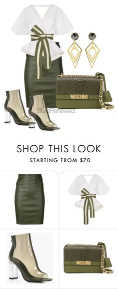 """""""Untitled #208"""" by sherristylz ❤ liked on Polyvore featuring Getting Back To Square One, Johanna Ortiz, Boohoo, Moschino and Sarah Magid"""