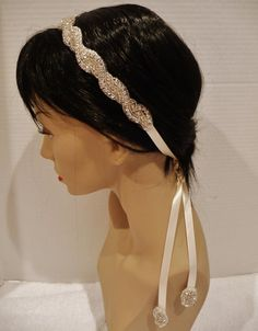 Bridal Rhinestone Headband, ELENORA, Bridal Headpiece, Crystal Headband,  Rhinestone Headband, Braided Headband. $38.50, via Etsy.