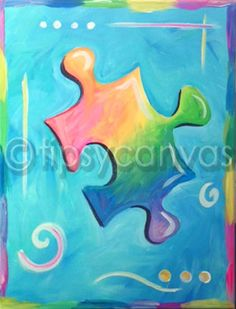 Puzzle piece Fantasy Dragon, Puzzle Art, Corpus Christi, Cute Pins, Puzzle Pieces, Rainbow Colors, Fundraising, Whimsical, Projects To Try