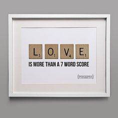 Personalised 'Love' Tile Print