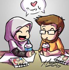 my prince and I n___n by madimar Muslim Couple Quotes, Cute Muslim Couples, Muslim Girls, Cute Couples, Muslim Women, Free Cliparts, Islam Marriage, Islamic Cartoon, Anime Muslim