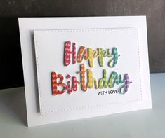 I'm in Haven: Happy Birthday with Love Painted Happy Birthday die from Simon Says Stamp