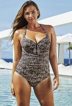 3d499b0348f Plus Size - Swim Sexy The Paramour Cheetah Underwire Swimsuit Plus Swimwear