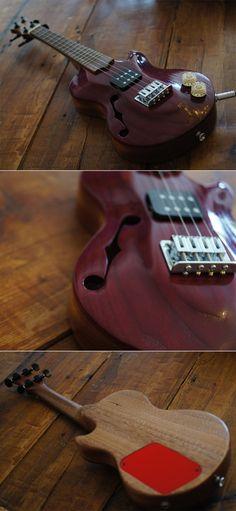 Custom made arch-top electric Ukulele