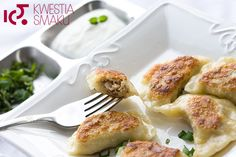 Dumplings stuffed with Buckwheat and Cottage Cheese Polish Dumplings, Quark Cheese, Appetizer Recipes, Appetizers, Buckwheat, Small Plates, Good Ol, Cottage Cheese, Tortellini