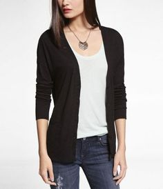 CASUAL BOYFRIEND CARDIGAN at Express in black