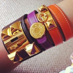 Hermes arm party - Taken with Hermes Bracelet, Bangle Bracelets, Bangles, Hermes Wallet, Arm Party, Eye Candy, Vintage Jewelry, Arms, Chokers