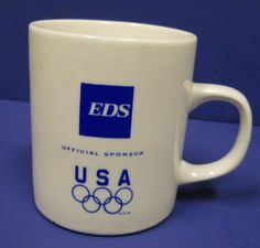 Electronic Data Sysytems EDS Official Olympic Sponsor Coffee Mug Computer Tech #ElectronicDataSystems