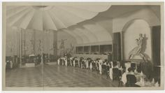 Interior of Palais Royal Cabaret Theatre, showing distant view of bandstand