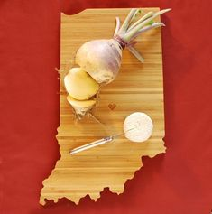AHeirloom's Indiana State Cutting Board by AHeirloom on Etsy, $48.00- this would be a perfect gift!
