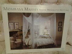 New Mombasa Majesty White Color Sheer Mosquito Canopy Bed Netting | eBay & Tradewind Canopy Mosquito Net to keep out gross nc bugs and look ...