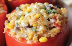 vegetarisches Quinoa-Rezept: gefüllte Paprika