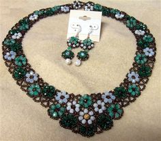 Flowers & Lace necklace w/ RAW earrings - Media - Beading Daily