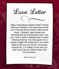 Love Letters for Her #16