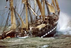 """I must go down to the seas again, to the lonely sea and the sky, And all I ask is a tall ship and a star to steer her by (From """"Sea Fever"""" by John Masefield, 1900"""