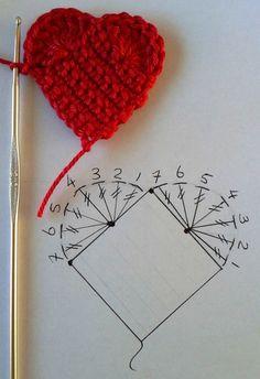 Lindos corações de crochê para decorar o seu dia.