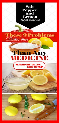 Salt, Pepper and Lemon Can Solve These 9 Problems Better Than Any Medicine - Healthy Living Healthy Lifestyle Motivation, Healthy Lifestyle Tips, Healthy Living Tips, Women Lifestyle, Luxury Lifestyle, Natural Health Tips, Natural Health Remedies, Natural Skin, Holistic Remedies