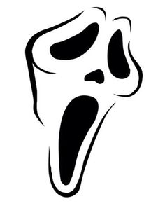 Scream ghostface horror tattoo unique tattoo ideas for Scream pumpkin template