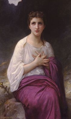 William Adolphe Bouguereau, Psyche. Saw one of his painting in person and almost cried, it was so beautiful and soulful