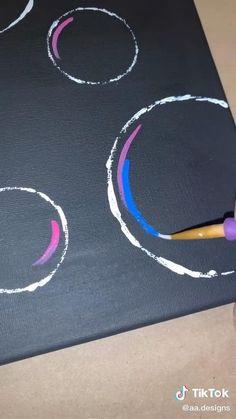 Simple Canvas Paintings, Easy Canvas Art, Diy Canvas, Canvas Board Painting, Canvas Painting Tutorials, Small Canvas Art, Mini Canvas Art, Art Drawings Sketches Simple, Art Tutorials