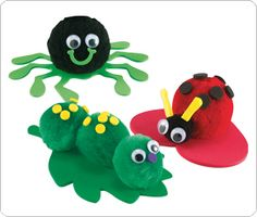 Always did crafts - Pom Pom Animals!  cute little craft for brownie bugs badge