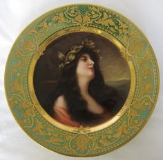 Dresden 19th Century Hand Painted Porcelain Plate