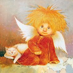 VK is the largest European social network with more than 100 million active users. Vintage Pictures, Funny Pictures, Angel Illustration, Angel And Devil, Cat People, Angel Art, Christmas Angels, Rock Art, Faeries