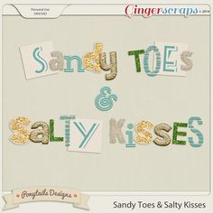 Sandy Toes & Salty Kisses Extra Alphas by Ponytails Designs