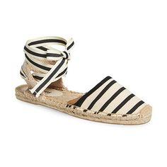 Soludos Espadrille Sandal, striped sandals, striped espadrilles, striped espadrille sandals