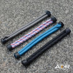 Made in the USA paracord woven by an amazing GRT in the USA. That combo is tough and you'll need it for your next event. Lots of colors to choose from!