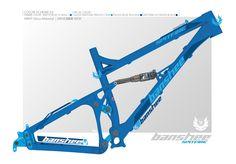 エントリー#:64 デザイナー:MAGIKIO | Design bike frame decals and choose cool colour combos for the Banshee Spitfire