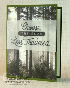 Adventure Awaits and Adventure Bound Road Less Traveled card by Patty Bennett
