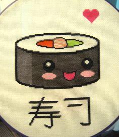 Kawaii Sushi Cross Stitch