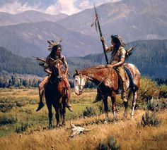 Native American Western Artwork by Martin Grelle - AmO Images - AmO Images Native American Paintings, Native American Pictures, Native American Artists, Indian Paintings, Native American Warrior, Native American Beauty, American Indian Art, American Indians, Native Indian