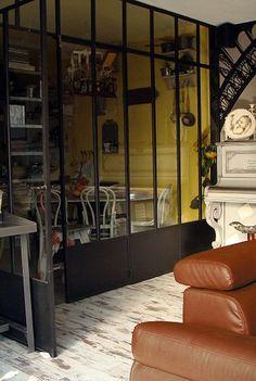 Porte coulissante verriere style atelier pinterest for Acheter verriere interieure