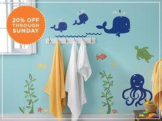 Bathroom wall decals 20% off until 6/3 on weedecor.com