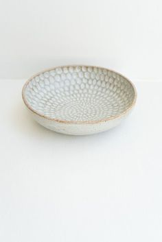 Malinda Reich Large Bowl no. 618 - An incredible large serving bowl with soft grey glaze accented with a hand-carved oval pattern on the interior. Pottery Wheel, Pottery Bowls, Ceramic Bowls, Ceramic Pottery, Pottery Art, Ceramic Art, Stoneware, Ceramics Projects, Ceramic Design