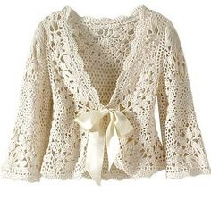 Olá meninas!  Como o friozinho em plena primavera insiste em ficar, encontrei esse modelo de casaquinho de crochê  para dividir aqui com voc...