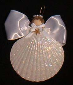 Such cute ornaments! My mom and I made sea shell angels like these when I was a kid! We used little wood pieces for the wings instead of ribbon... but it's super cute this way too!