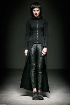 Punk Rave Steam Long Cardigan Coat Jacket Black Witches Gothic Visual Kei M XL   eBay