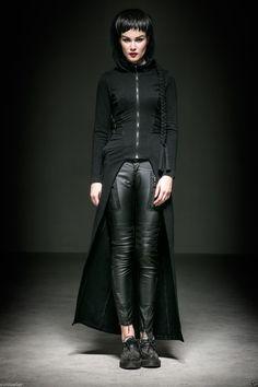 Punk Rave Steam Long Cardigan Coat Jacket Black Witches Gothic Visual Kei M XL | eBay
