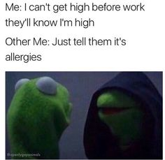 Yesss, come to the dark side. Our weed is dank. Funny Weed Memes, Weed Jokes, 420 Memes, Weed Humor, Funny Relatable Memes, Funny Quotes, Cannabis, Stoner Quotes, Amor
